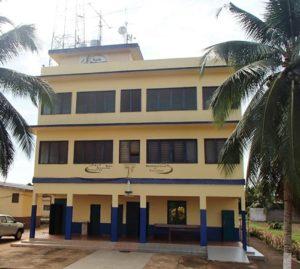 Le siège de la radio à Allada